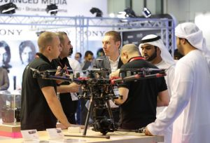 Drone showcase at CABSAT