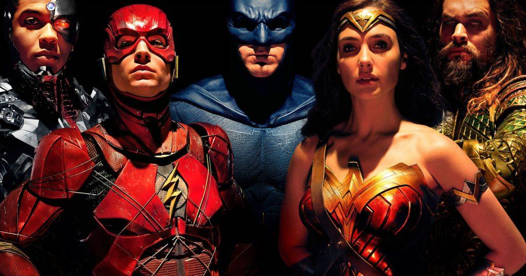 Cyborg, Flash, Batman, Wonder Woman, Aquaman of Justice League